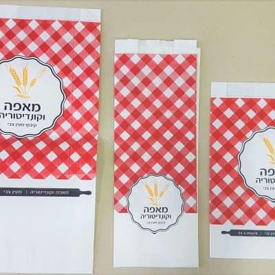 שקיות נייר ממותגות למאפה וקונדיטוריה