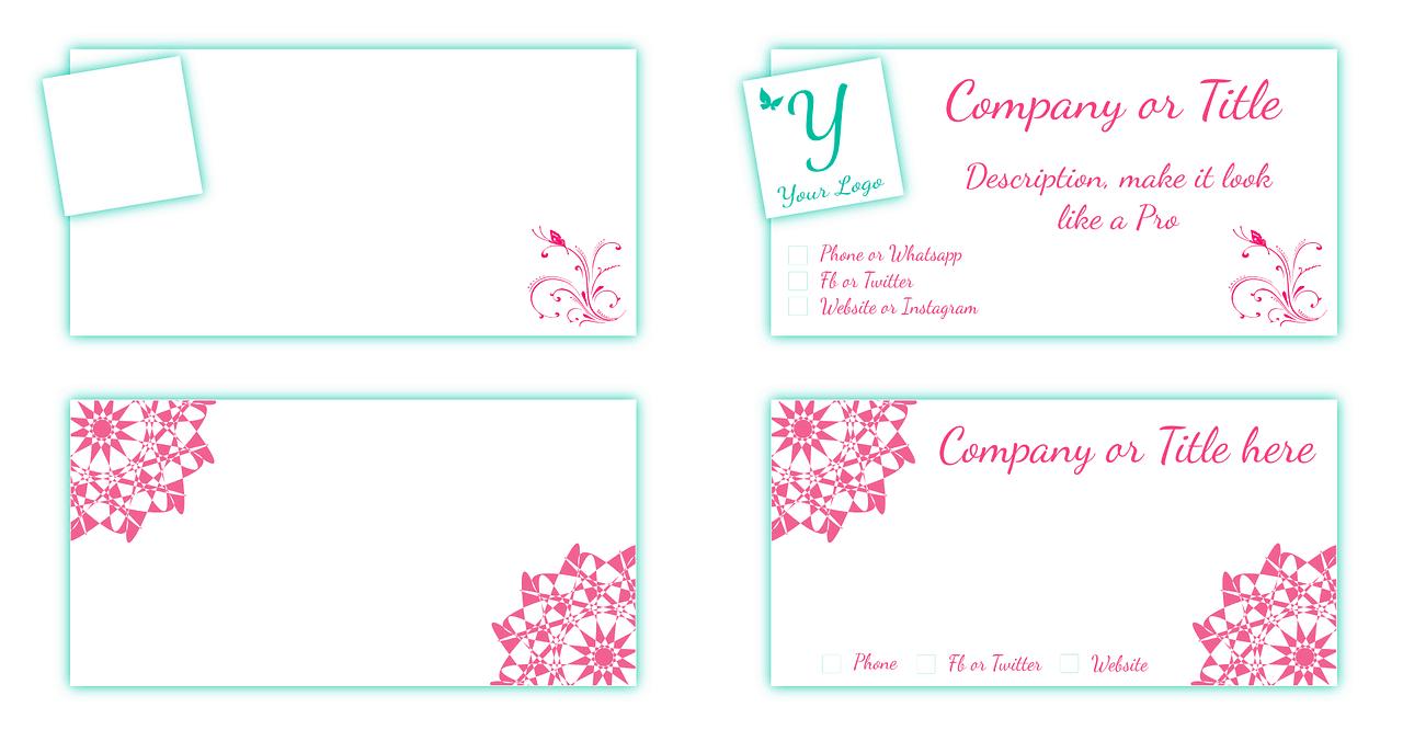 דוגמאות לכרטיסי ביקור