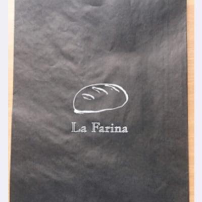 דוגמא לשקית נייר שחורה למאפייה